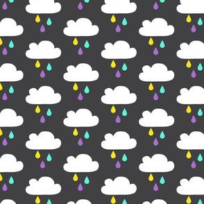 Colourful Rain - DarkGrey