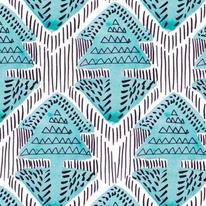 Blue Tribal Triangle Arrow