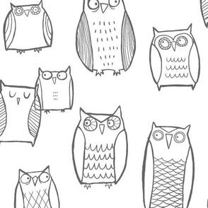 Night Owl White/Gray