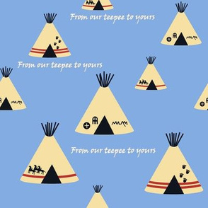 Our Teepee - Blue