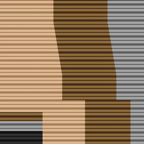 MSD Striped Tights (Neutrals)