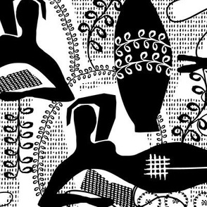 Did Matisse read in the winter? black and white toile
