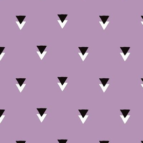 geometric tribal aztec triangle violet modern patterns