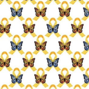 Gold Ribbons and Butterflies for Childhood Cancer Awareness