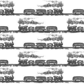 all aboard (black and white)