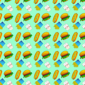 Burgers With Hot Dogs