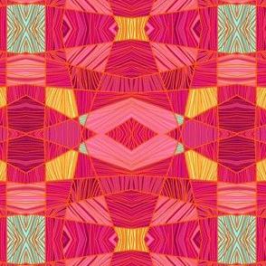 Happy Pink and Orange Pattern