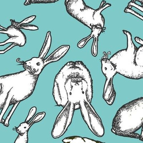 Mr. Jack Rabbit - Large Blue