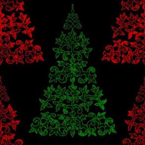Chalk and Slate Christmas Tree ~ Faro and Richelieu on Black