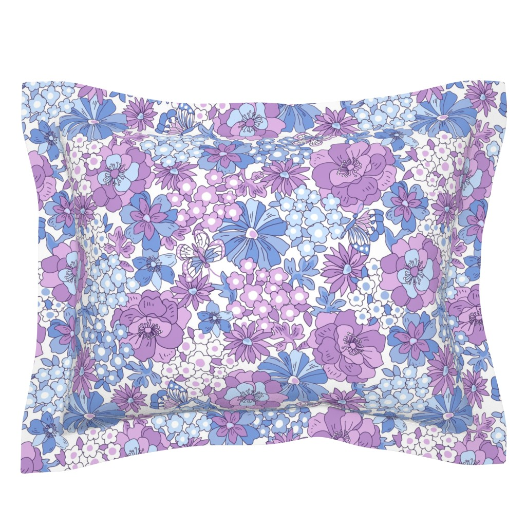 Sebright Pillow Sham featuring Flower_Graden by thornbirds
