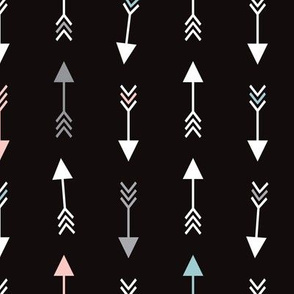 geometric arrow and cupid love illustration indian theme illustration print black