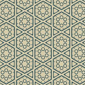 Hexagons and Circles in Aqua