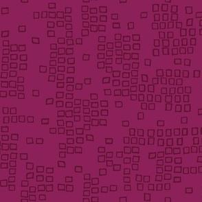 Scribble Squares - Magenta