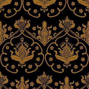 Gothic Damask ~ Cologne ~ Gold and Black