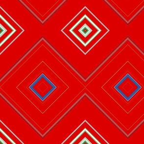 Red_Diamond_Geometric Pattern
