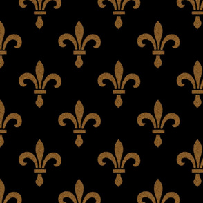 14th Century Fleur De Lys ~ Gold and Black