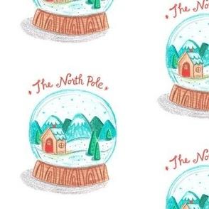 North Pole Snow Globe