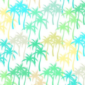 Colourful Palm Trees #14