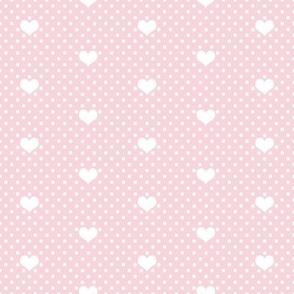 Polka Dot Heart Rose Pink