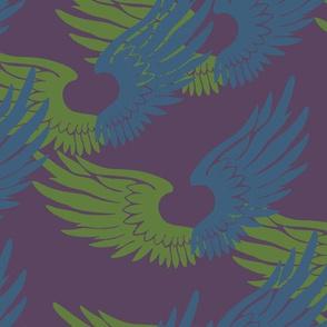 Heartwings: Purple, Blue, Green