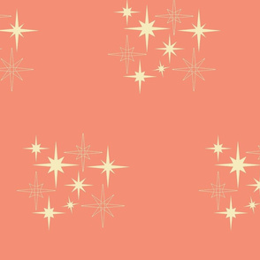 A-C-Mid_Century_Atomic_Perfect_Stars_Coral