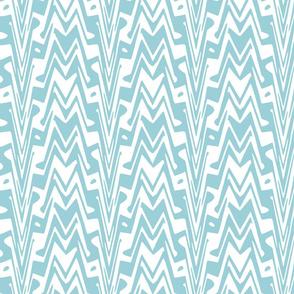 aztec zigzag in sky blue