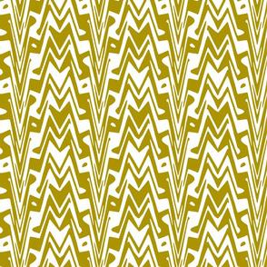 aztec zigzag in bronze