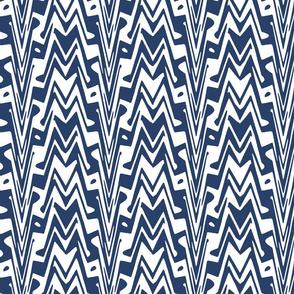 aztec zigzag in navy