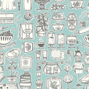 Sketchy Vinatge Kitchen