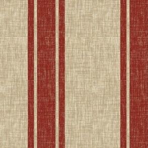 Large Western Ticking Stripe - red