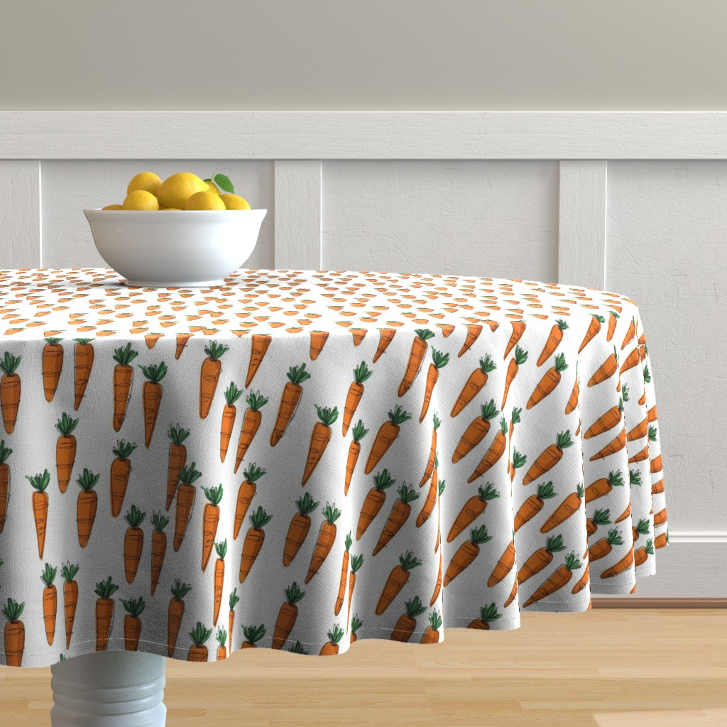Malay Round Tablecloth featuring Bunch of Carrots by mulberry_tree