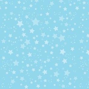 Blue Scattered Stars