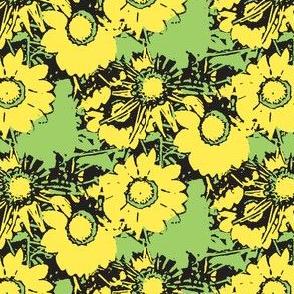 Starburst Print Green and Yellow