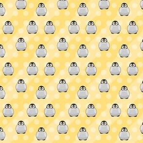 Penguin on Polka Dots & Stripes