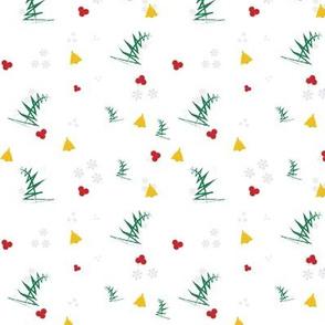 Christmas Trees, Bells, Berries & Snowflakes
