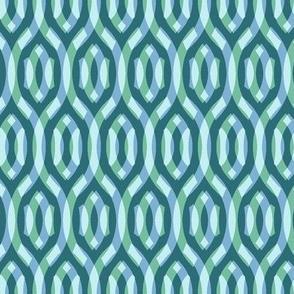 soft aqua double lattice