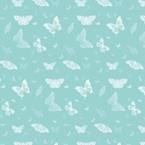 Blue Butterflies Flying