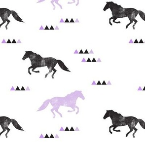 Wild horses // purple distressed