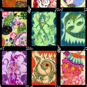 """Music and More- Color Panels (from """"Face The Music"""" Collection)"""
