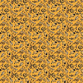 Ornate Music Notes- Small Orange