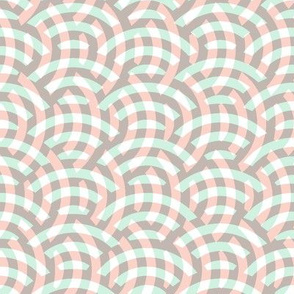 woven circles - pastel