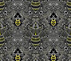 chalkboard filigree bee