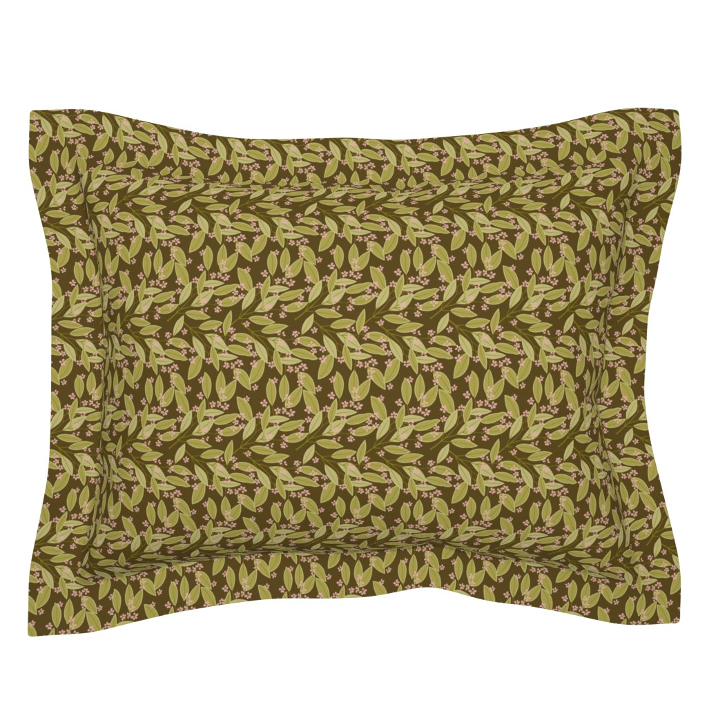 Sebright Pillow Sham featuring eucalyptus_brown2 by cindylindgren