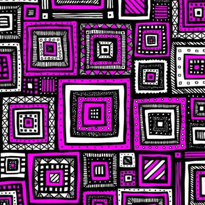 Tribal Squares (Pink)
