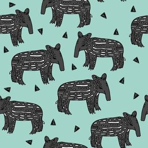 tapir // baby tapir fabric cute animals design