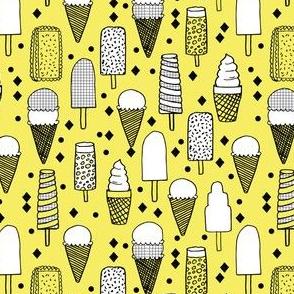 ice cream // tropical bright summer icecream sweets fabric print