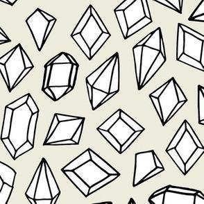 crystals // cream background crystal gems fabric andrea lauren rocks and gemstones