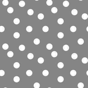 Polka Dot - Medium Grey by Andrea Lauren