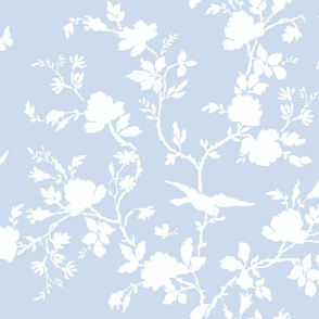 AMES Chinoiserie Silhouette in blueberry
