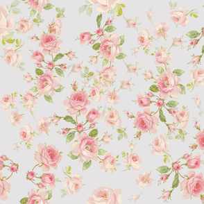 Saint Colette June Roses on taupe